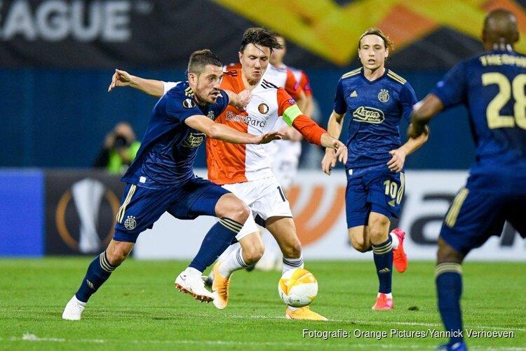 Feyenoord pakt punt in Zagreb na spannend duel